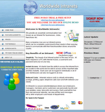 Franchise Intranet Communication Tool